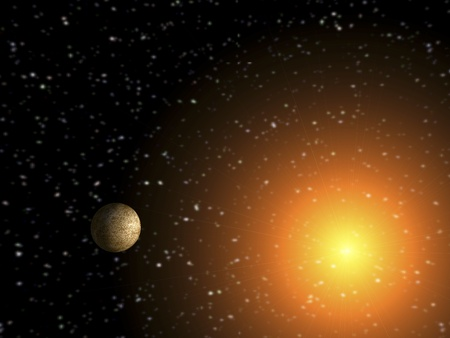 digital rendering of a solar system Stock Photo - 8457534