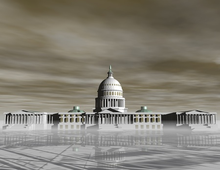 digital visualization of the capitol photo