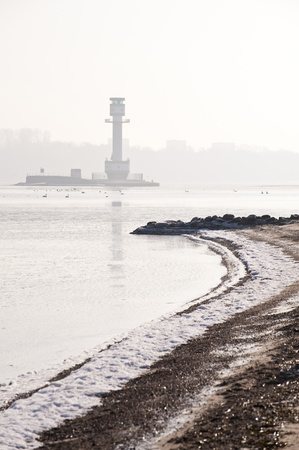 Lighthouse in Friedrichsort, Kiel, Germany Stock Photo - 8817381