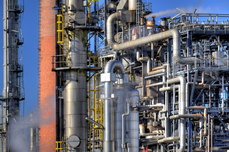 Detail of an oil refinery Stock Photo - 9101520