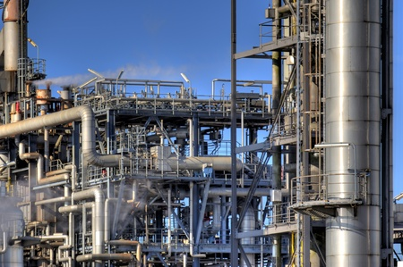 Detail of an oil refinery