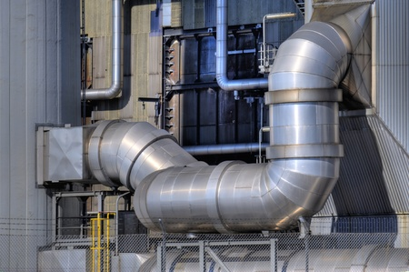 Detail of an oil refinery Stock Photo - 9101522
