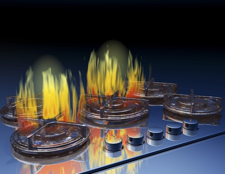 hobs: Digital visualization of a gas stove