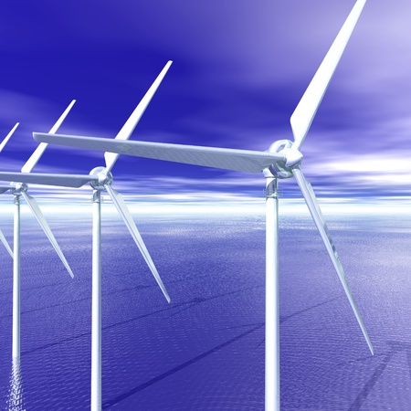 Digital visualization of a wind generator photo