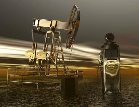conveyor system: Digital visualization of oil production