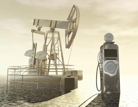 exploitation: Digital visualization of oil production