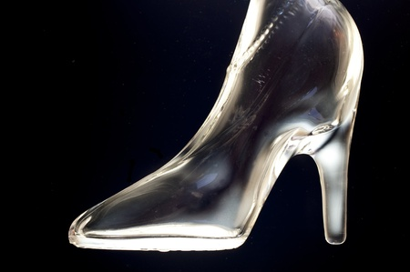 polarization: Glassy high heel Stock Photo