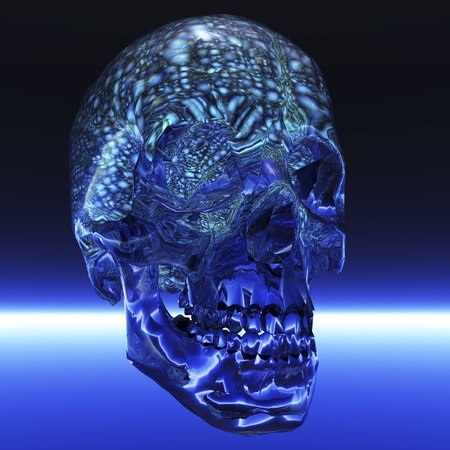 Digital visualization of a human brain Stock Photo - 9159656