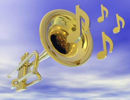 Digital visualization of a trumpet