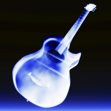 Digital visualization of a guitar Stock Photo - 9159644