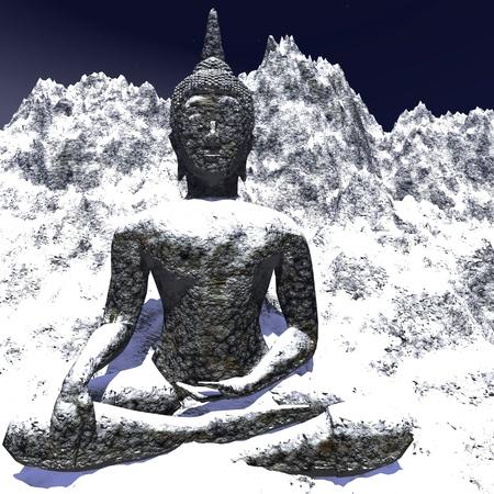 monumental: Digital visualization of a buddha statue