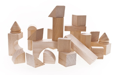 Close up of building blocks photo