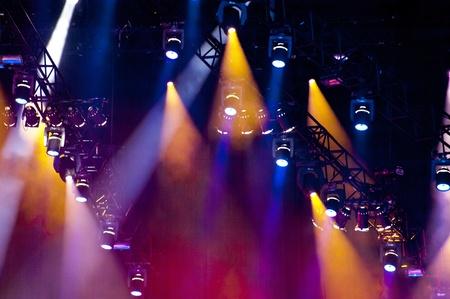 Lightshow on a concert Standard-Bild