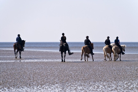 Beach of St. Peter-Ording, Germany Stock Photo
