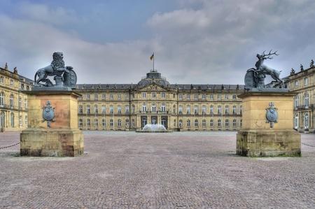Château de Stuttgart en Allemagne. Banque d'images - 9596614