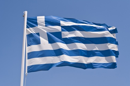 Greek flag Stock Photo - 11125037