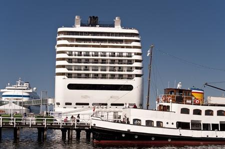 Cruiser in port of Kiel, Germany Stock Photo - 11633804