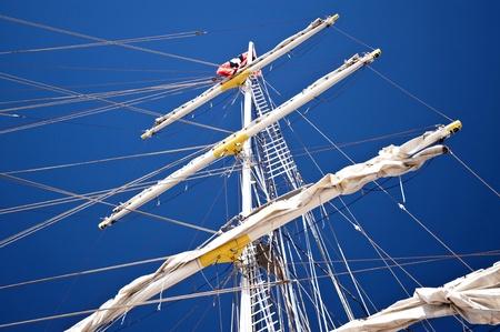abseilen: Segelschiff