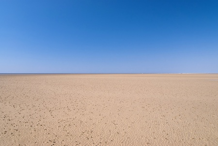 sandbank: Beach of St. Peter-Ording, Germany Stock Photo