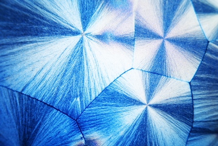 ascorbic acid: Microcrystals of ascorbic acid in polarized light Stock Photo