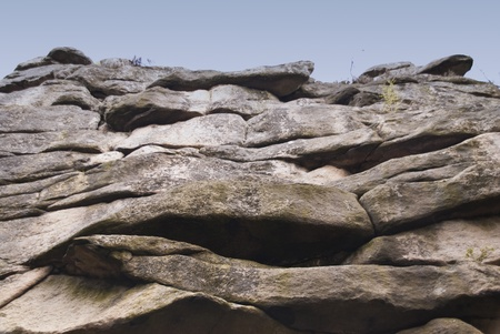 crag: Rocks in Harz Mountains, Germany Stock Photo