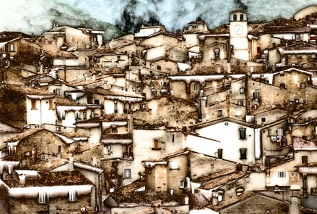 Mountain Village in the Abruzzi photo