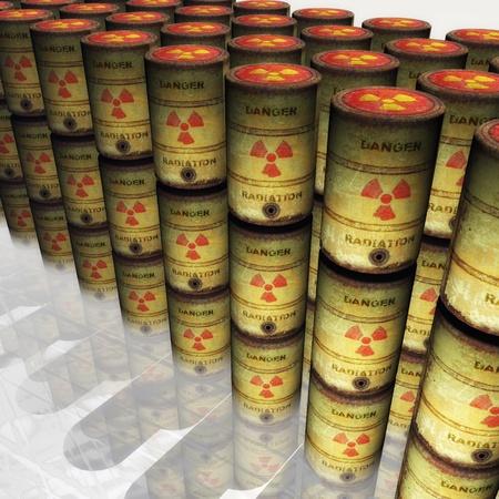 Residuos nucleares Foto de archivo - 13657816