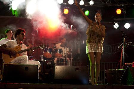 betina: KIEL, GERMANY - AUGUST 19: Brazil-Pop Star  Betina Ignacio alias Be performes on the Duckstein Festival in Kiel, 2012 August 19 Editorial