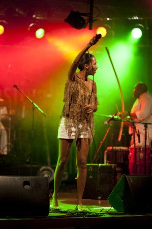 ignacio: KIEL, GERMANY - AUGUST 19: Brazil-Pop Star  Betina Ignacio alias Be performes on the Duckstein Festival in Kiel, 2012 August 19 Editorial