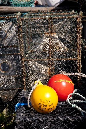 lobster boat: Lobster Traps Stock Photo