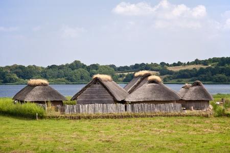 Reconstruction of a viking village Stock Photo