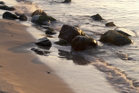 Coast of Ahrenshoop, Germany in the evening Stock Photo - 15810768