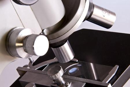 tiny lenses: Microscope Stock Photo