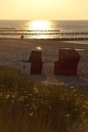 Beach chairs in Ahrenshoop, Germany photo