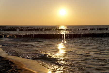 Beach of Ahrenshoop, Germany in the evening Stock Photo - 15912190