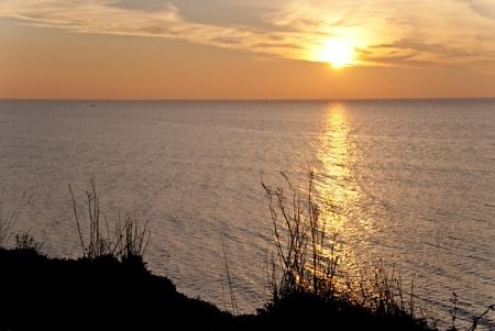 waterside: Sunset in Ahrenshoop, Germany