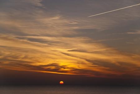 Sunset in Ahrenshoop, Germany Stock Photo - 15911485