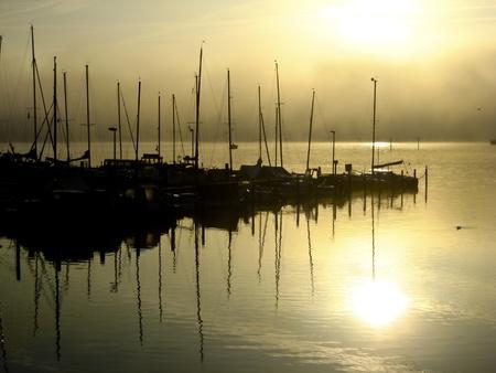 Kiel Fjord in the morning Stock Photo - 15911454