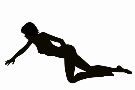 Silhouette of a posing Woman Stock Photo - 15905425