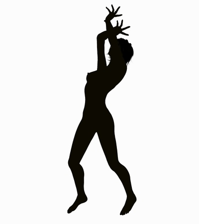 Silhouette of a posing Woman Stock Photo - 15905437