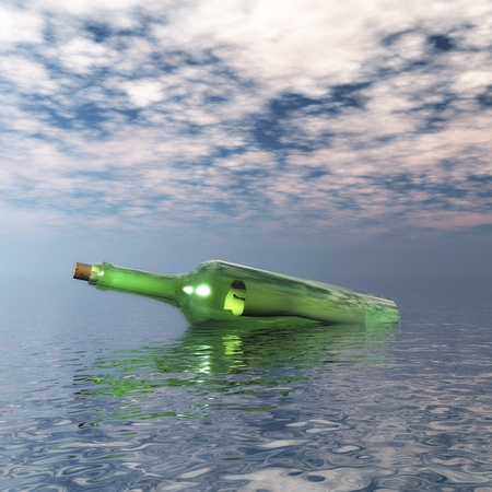 message in a bottle: Message in a Bottle Stock Photo