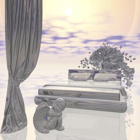 Digitale Visualisierung des Innenraumes Scene Standard-Bild - 19027813