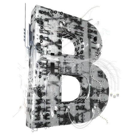scripting: Industrial 3D Letter Stock Photo