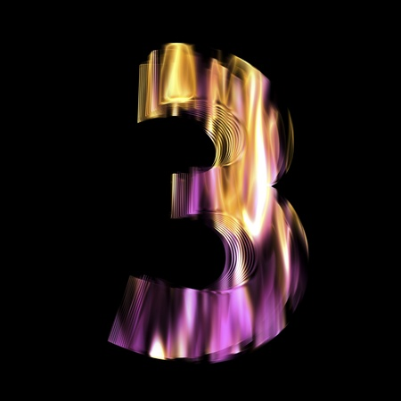 Flaming 3D Number photo