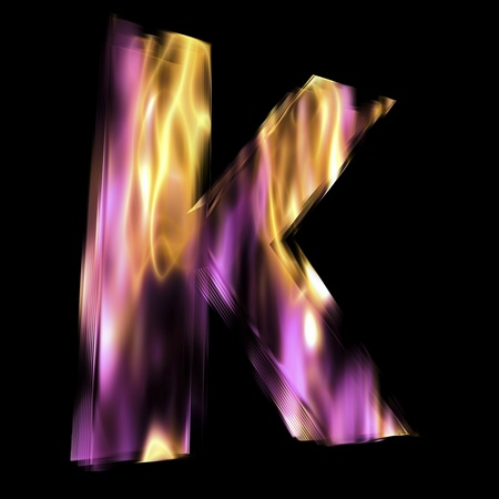Flaming 3D Letter photo