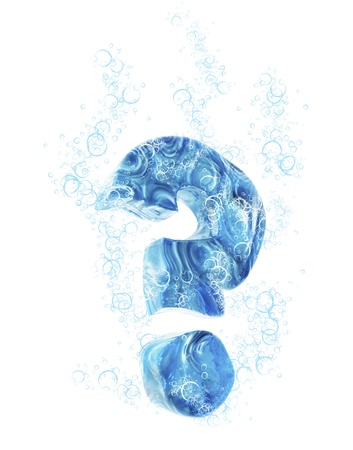 watery: Liquid 3D Sign Stock Photo