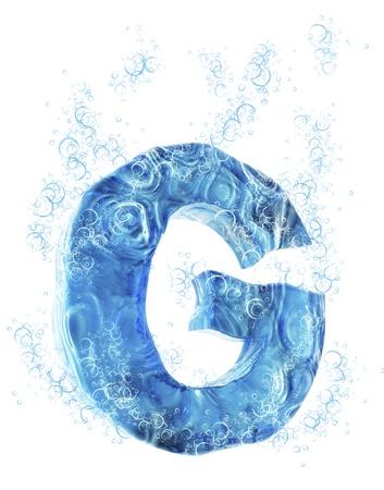 liquid g: Liquid 3D Letter