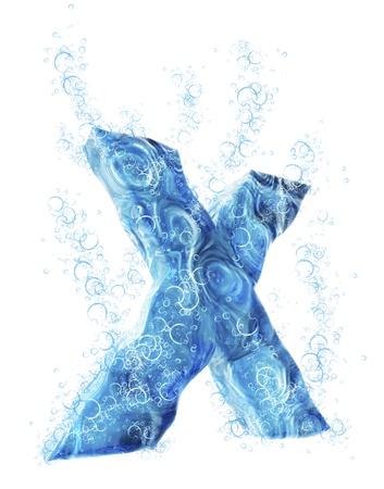 liquid x: Liquid 3D Letter
