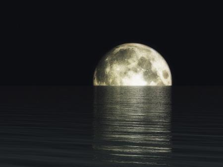 moonrise: Digital Visualization of a Moonset