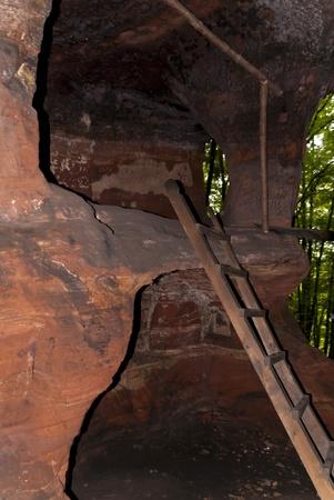 stoneage: On the Hiking Trail Eifelsteig in the Eifel, Germany